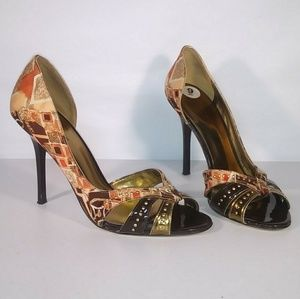 Guess Open Toe D'Orsay Heel Pumps Size 9 M